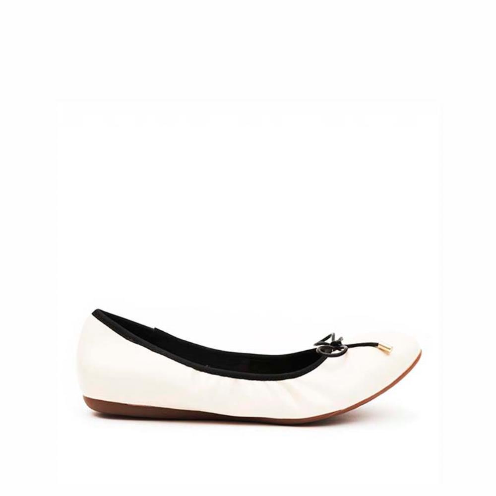 Giày búp bê viền thun nơ mảnh BB0025