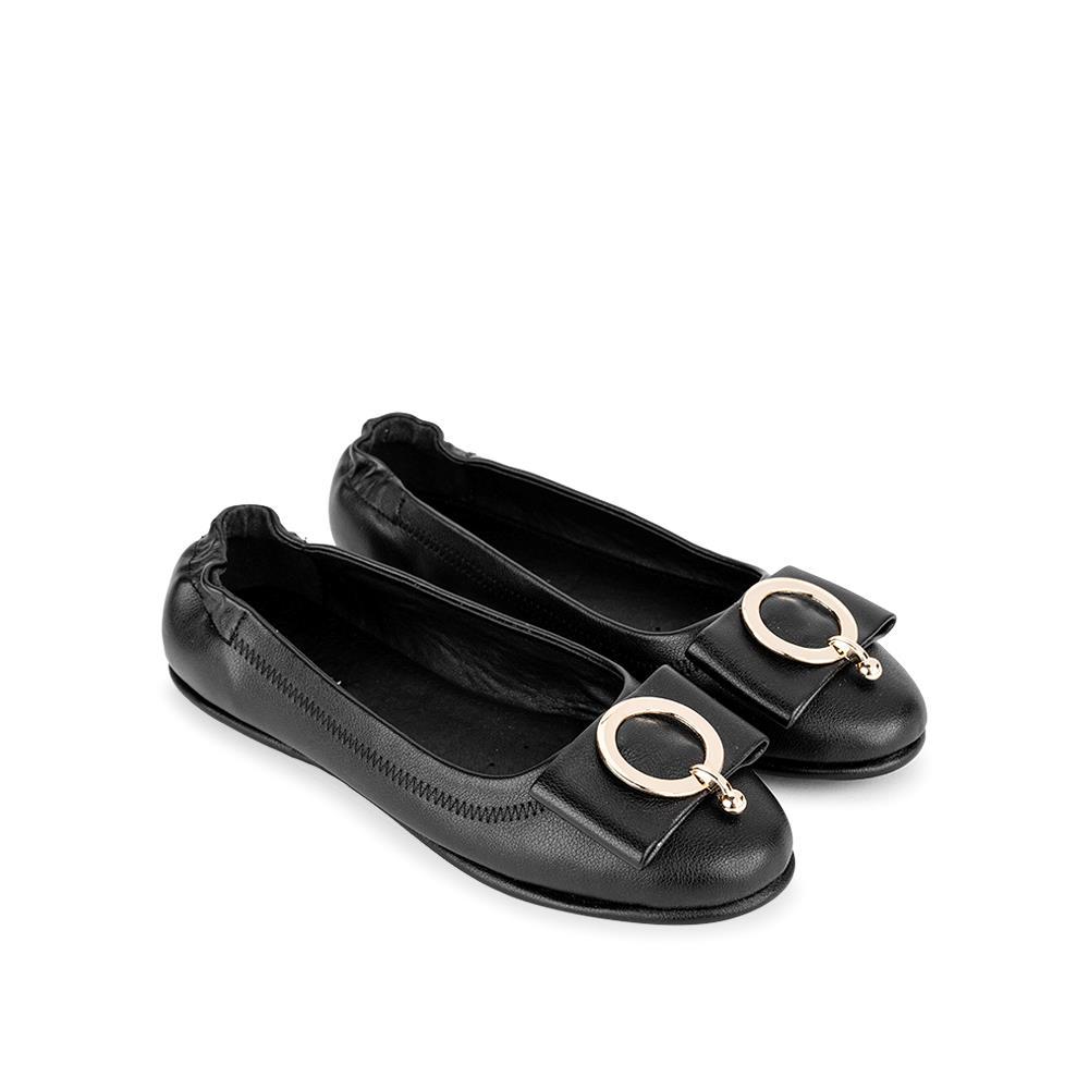 Giày búp bê chỉ viền phối nơ BB0042