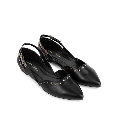 Giày búp bê mũi nhọn đính đinh tán BB0043