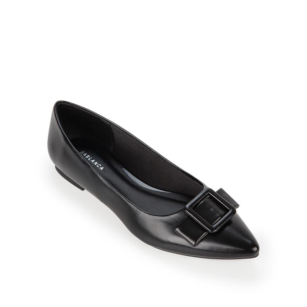 Giày búp bê mũi nhọn đính nơ trang trí BB0055