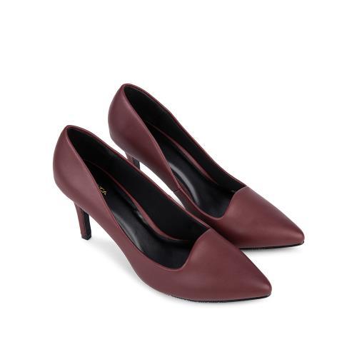 Giày cao gót mũi nhọn da mờ BN0064