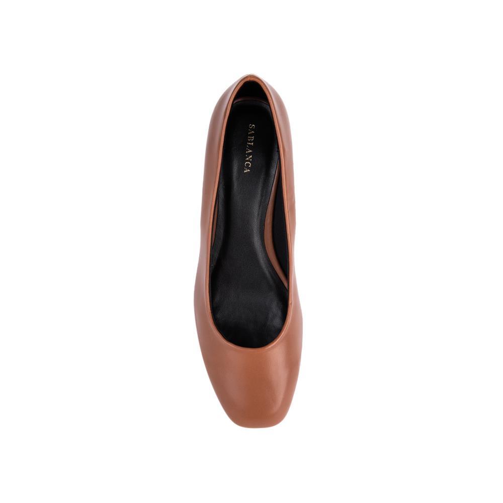 Giày cao gót mũi nhọn gót vuông trang trí Metallic BN0069