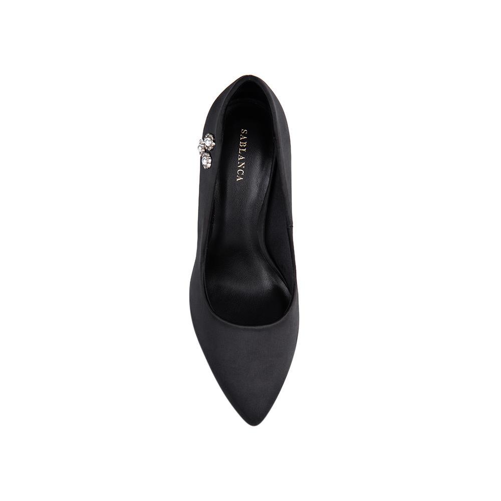 Giày cao gót mũi nhọn trang trí đính đá BN0071