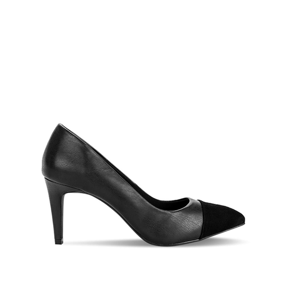 Giày cao gót mũi nhọn phối da lộn BN0081