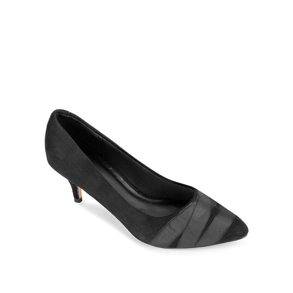 Giày cao gót mũi nhọn phối ruy băng BN0100