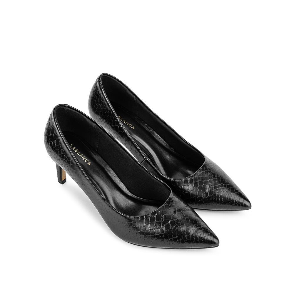 Giày cao gót mũi nhọn vân da rắn BN0102