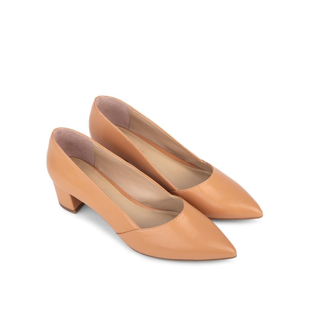 Giày cao gót mũi nhọn đế vuông BN0116