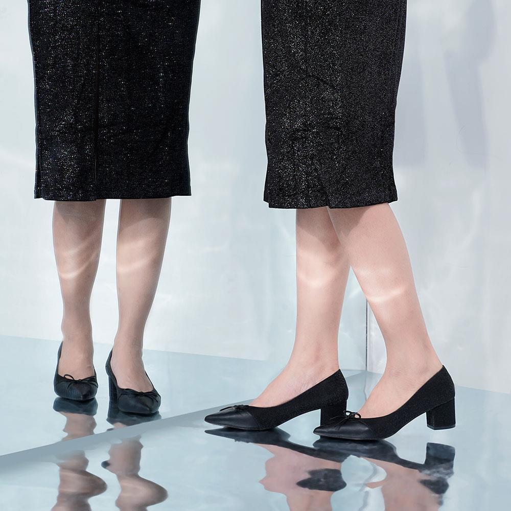 Giày cao gót mũi nhọn nơ mảnh BN0133