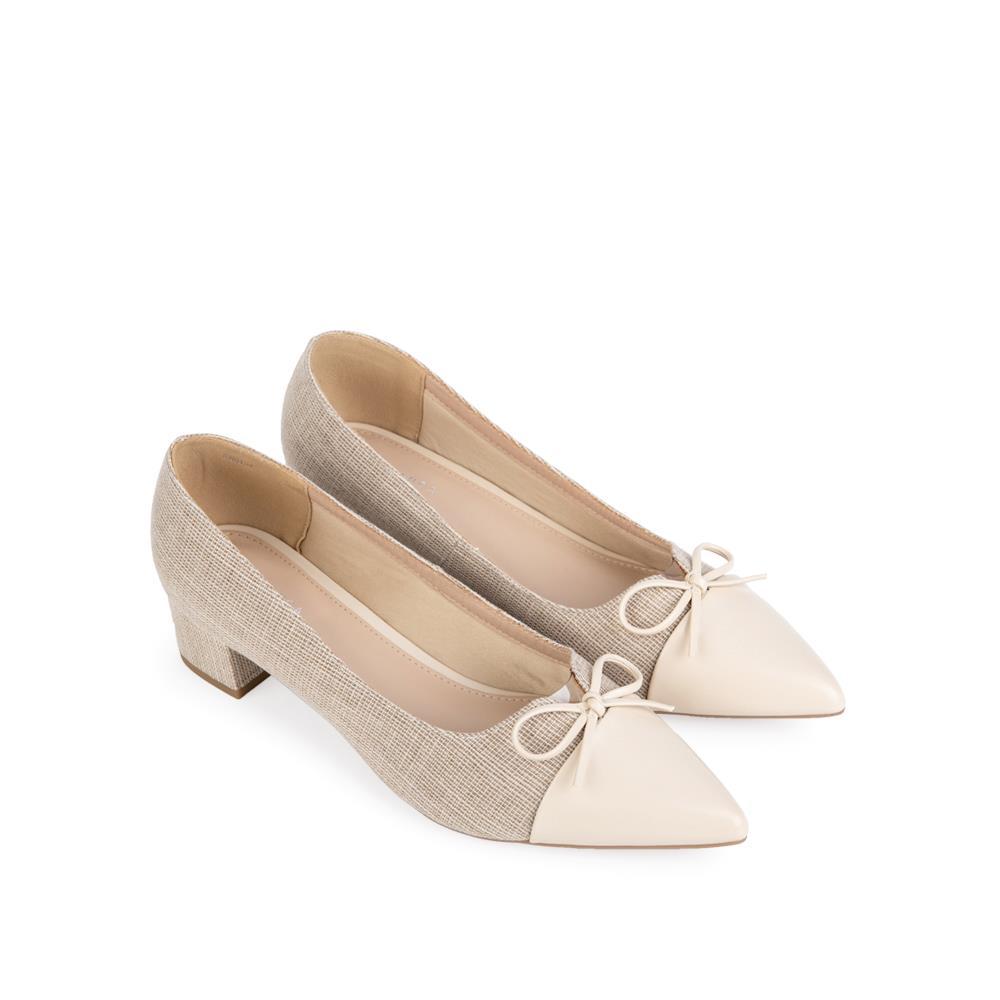 Giày cao gót mũi nhọn đính nơ mảnh  BN0134