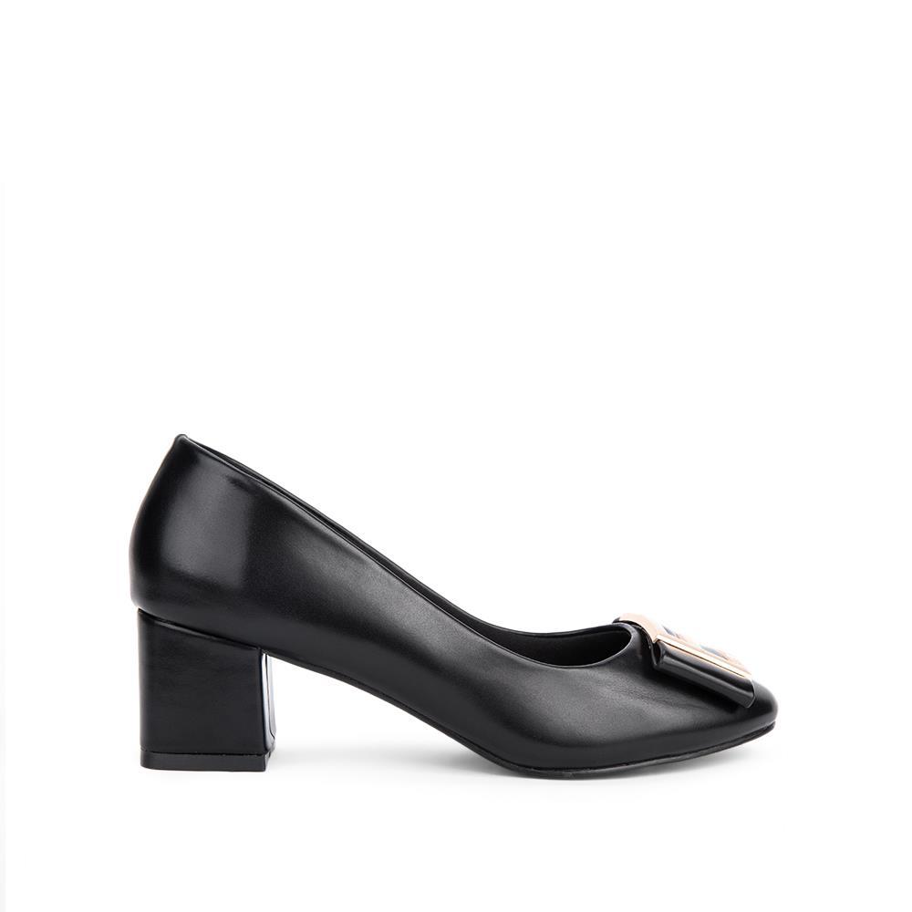 Giày cao gót mũi tròn đế trụ BT0015