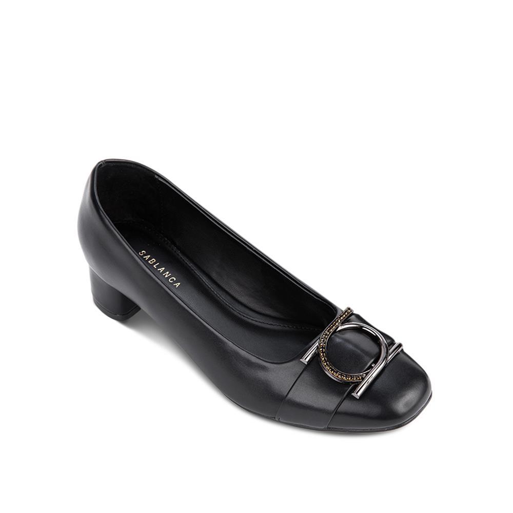 Giày cao gót mũi vuông đế trụ BV0008