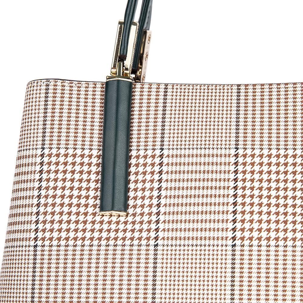 Túi xách tay họa tiết kẻ sọc Glen HB0106