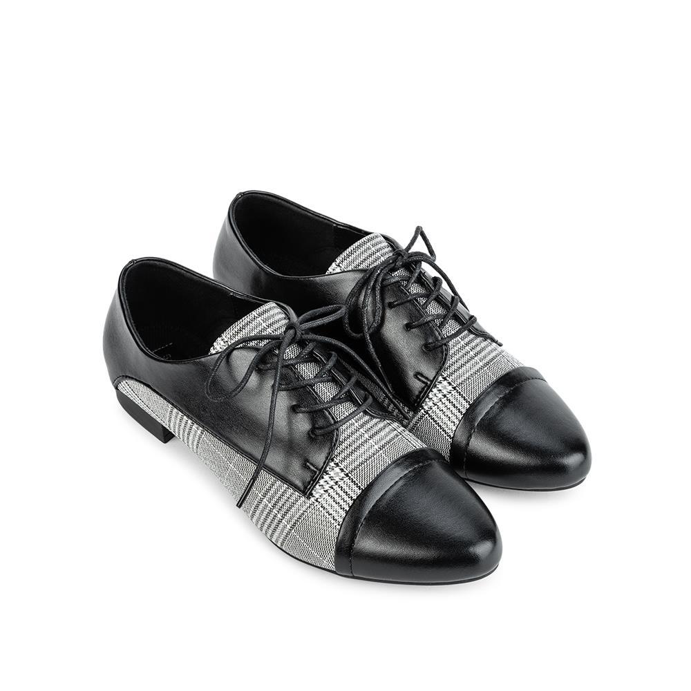 Giày mọi phối da họa tiết caro MO0012