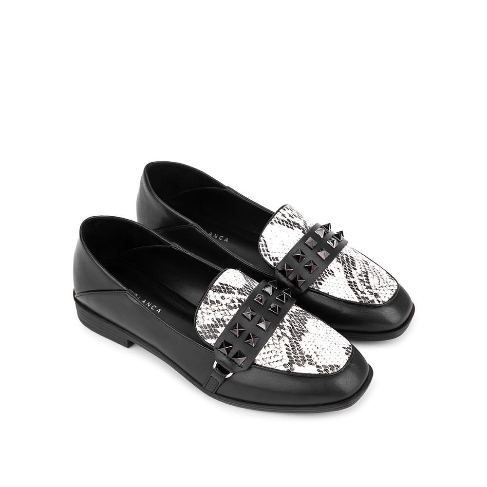 Giày mọi phối vân da rắn MO0013