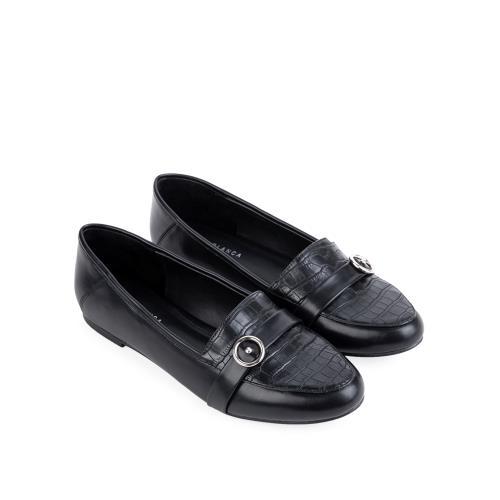 Giày mọi kèm khóa tròn trang trí MO0014