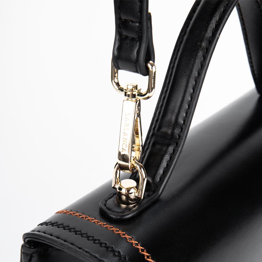 Túi xách tay nắp gập khóa gài kim loại SA0017