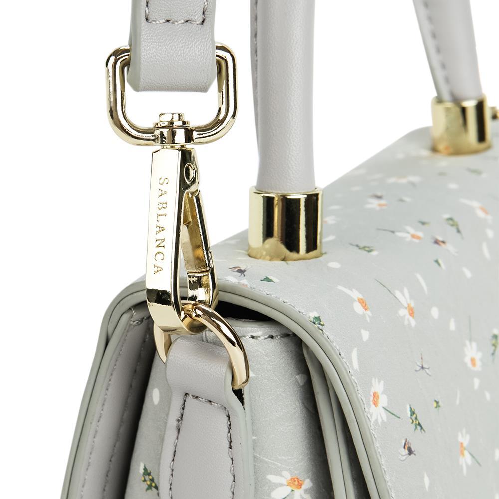 Túi xách tay nắp gập họa tiết hoa SA0030