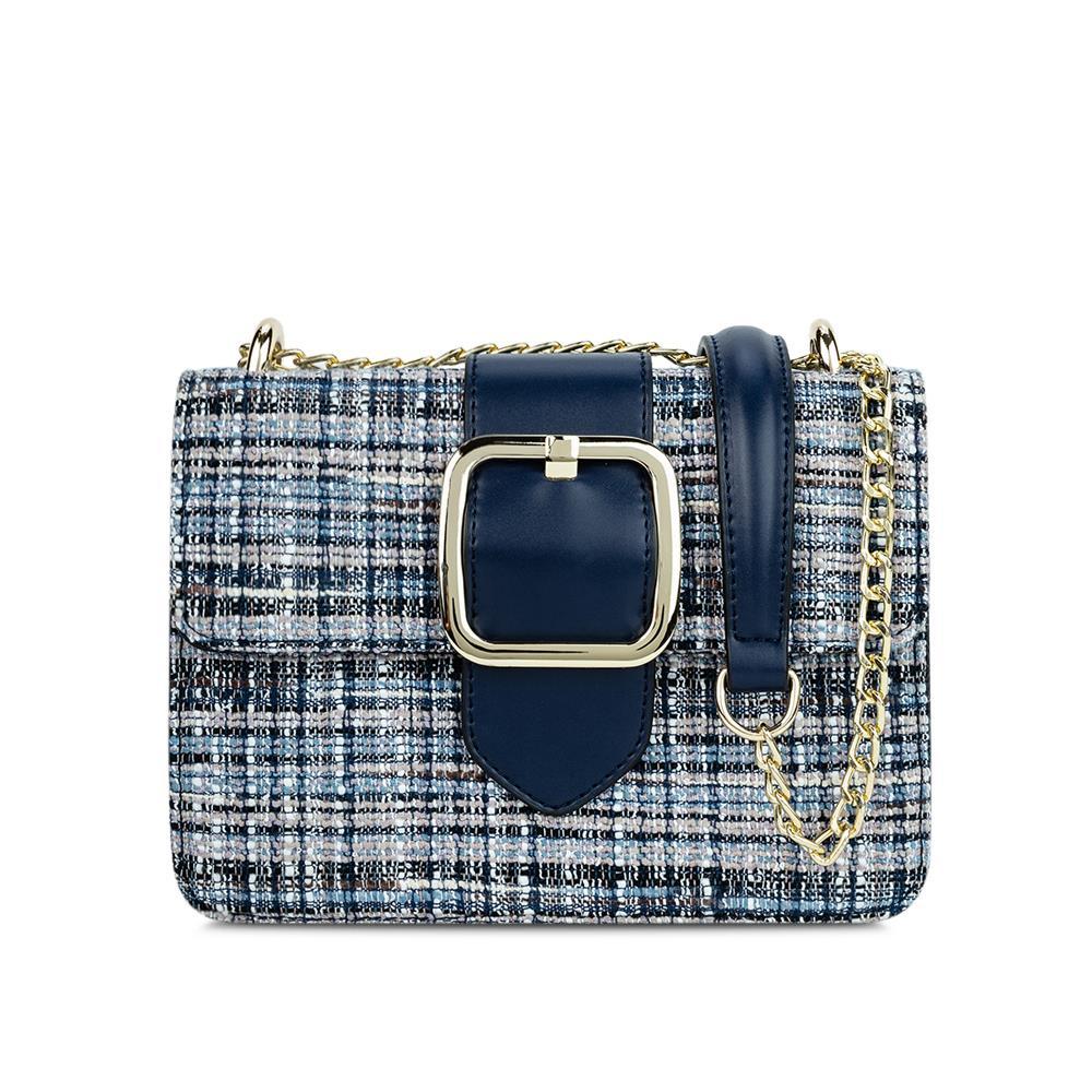 Túi đeo chéo phối vải tweed SD0055