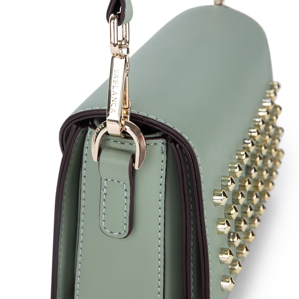 Túi đeo chéo nắp gập họa tiết đinh tán SD0063