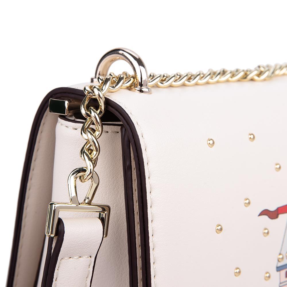 Túi đeo chéo nắp gập đính kim loại SD0065