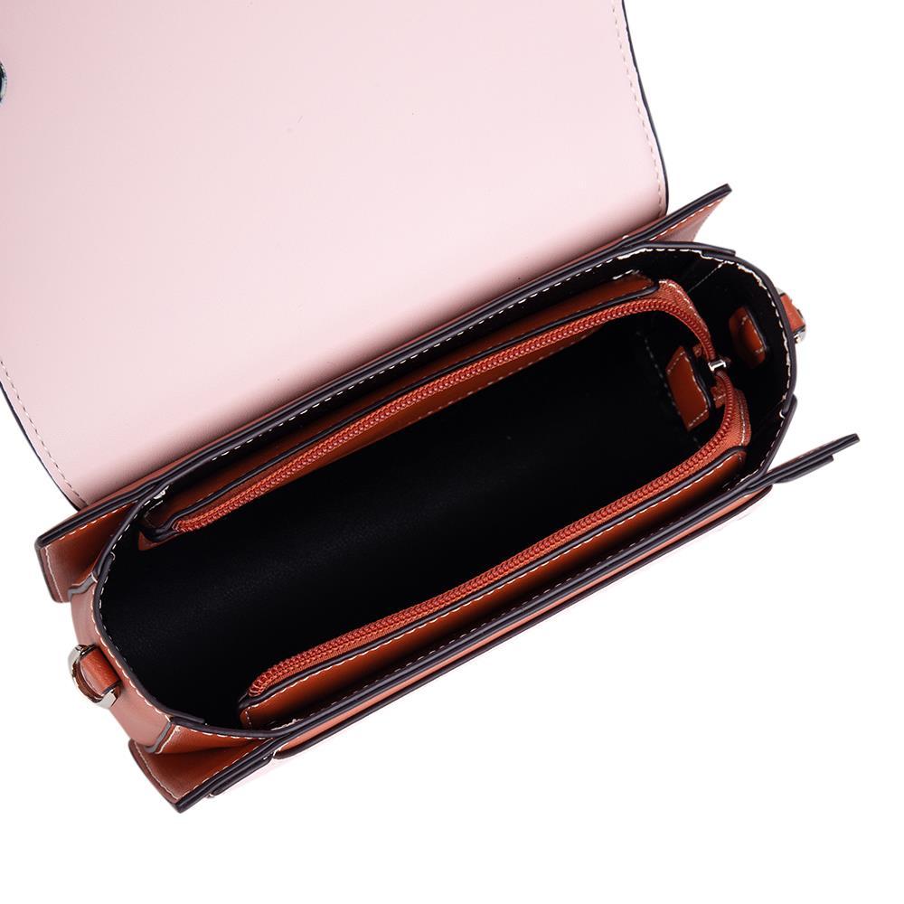 Túi đeo chéo nắp gập phối Color Block SD0079