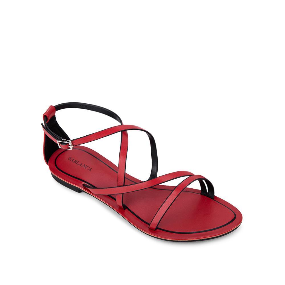 Giày Sandal đế bệt quai chéo SK0027