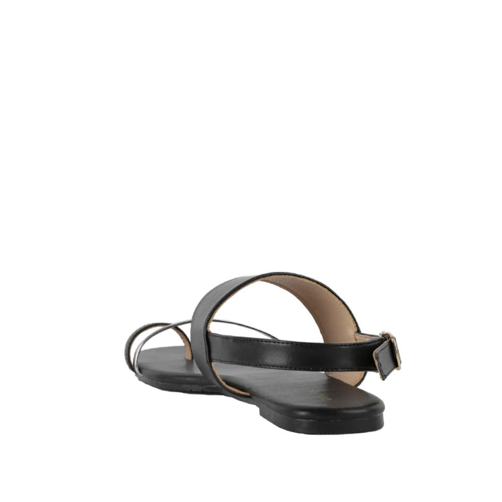 Giày Sandal đế bệt quai ngang phối Metallic SK0031