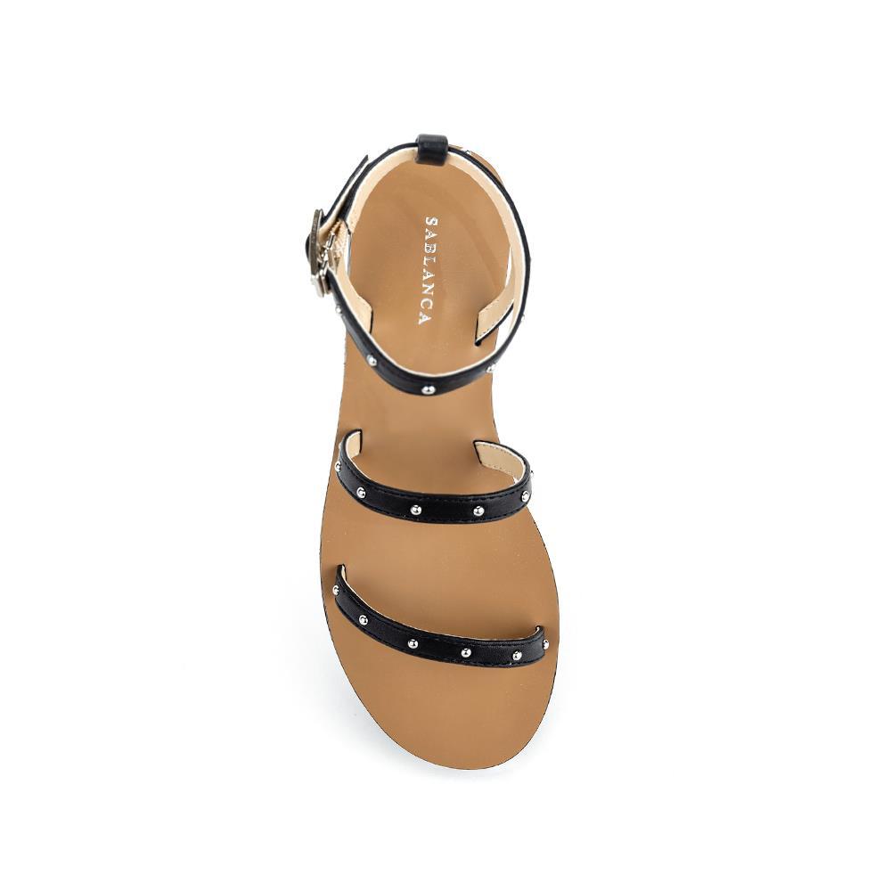Giày Sandal đế bệt quai mảnh đính đinh tán SK0035