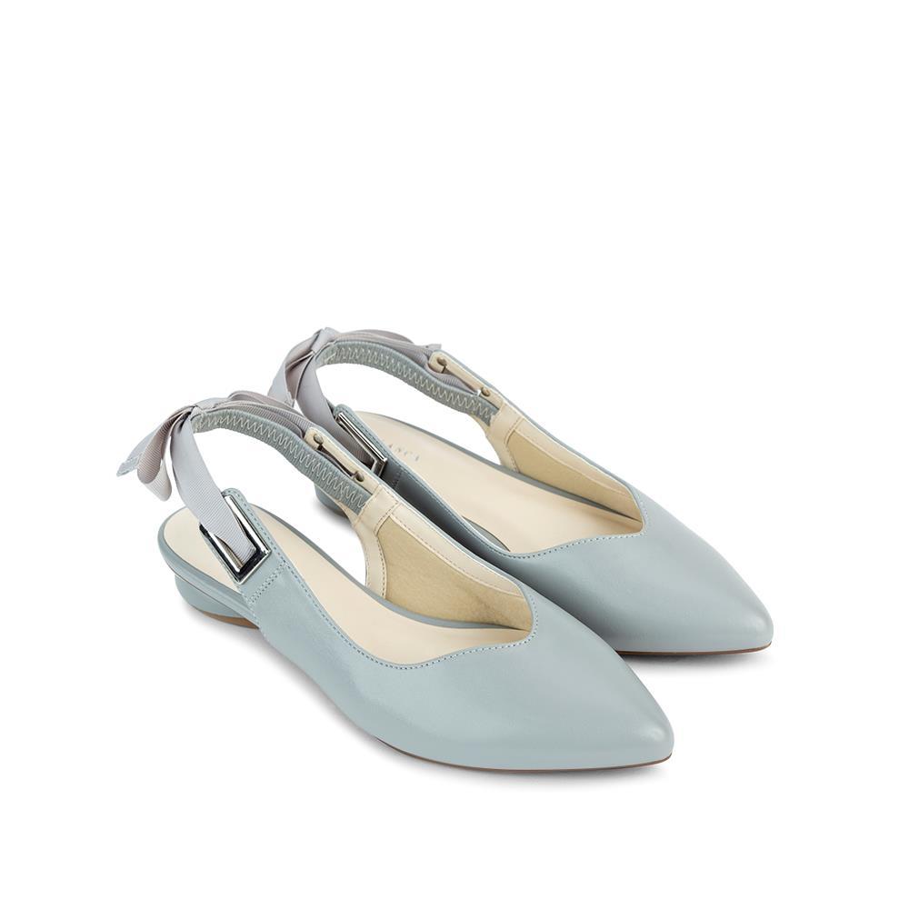Giày Sandal đế bệt đính nơ quai hậu SK0037