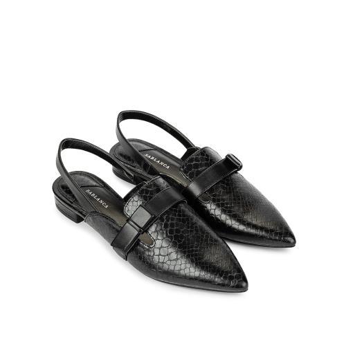 Giày Sandal đế bệt bít mũi đính nơ SK0039