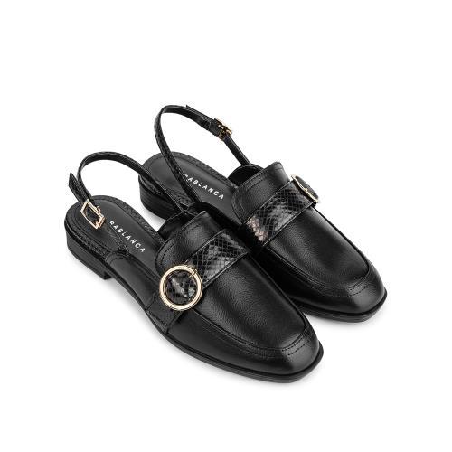 Giày Sandal đế bệt phối vân da rắn SK0040