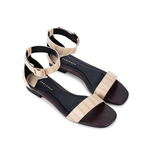 Giày Sandal đế bệt vân da cá sấu SK0041