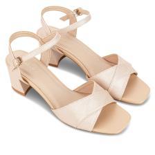 Giày sandal cao gót phối vải dệt kim SN0061