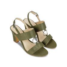 Giày sandal cao gót phối khóa tròn SN0064
