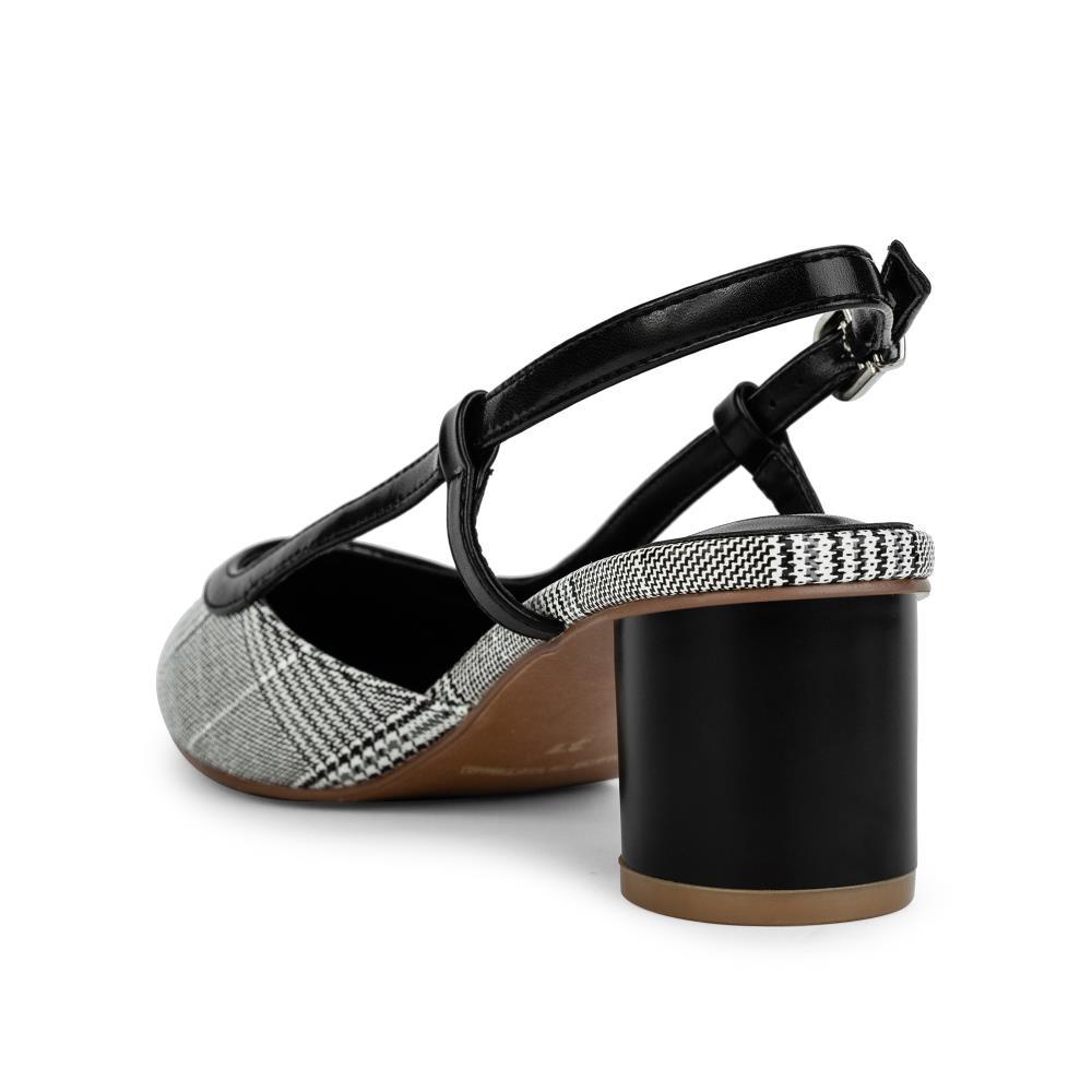 Giày sandal cao gót vân họa tiết caro SN0068