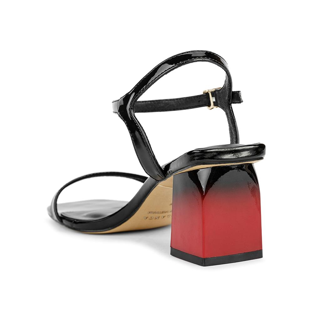 Giày sandal cao gót phối da bóng SN0072