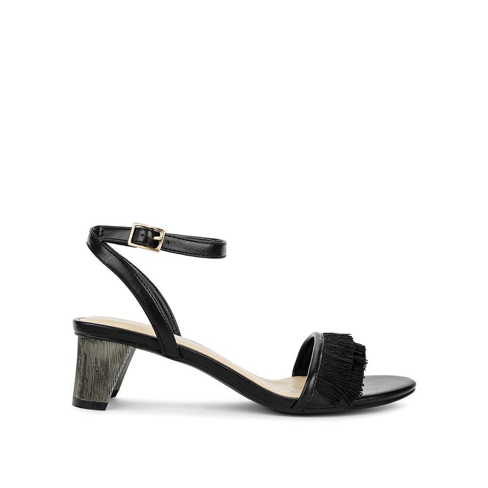 Giày sandal cao gót phối tua rua SN0075