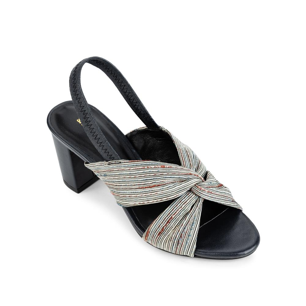 Giày sandal cao gót quai đan thổ cẩm SN0081