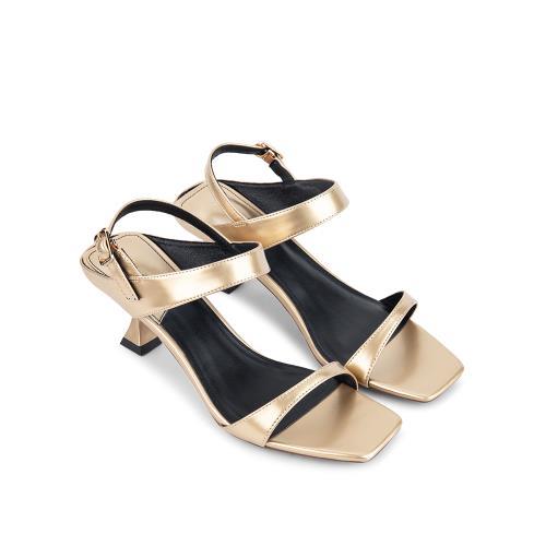 Sandal cao gót đế cách điệu SN0085