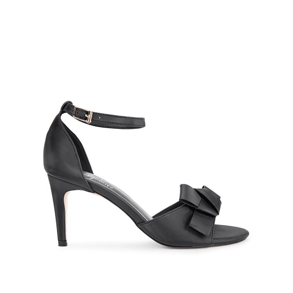 Giày sandal cao gót phối nơ SN0086