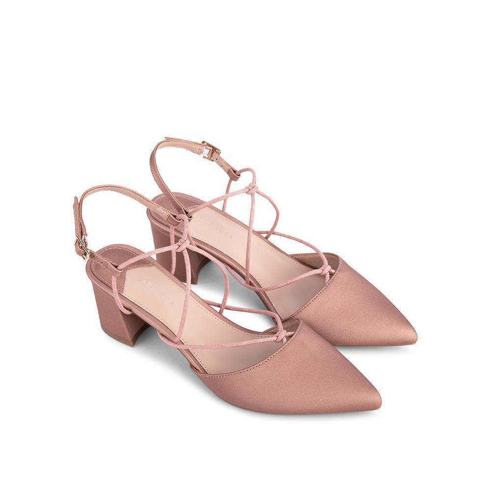 Giày sandal cao gót mũi nhọn quai mảnh SN0097