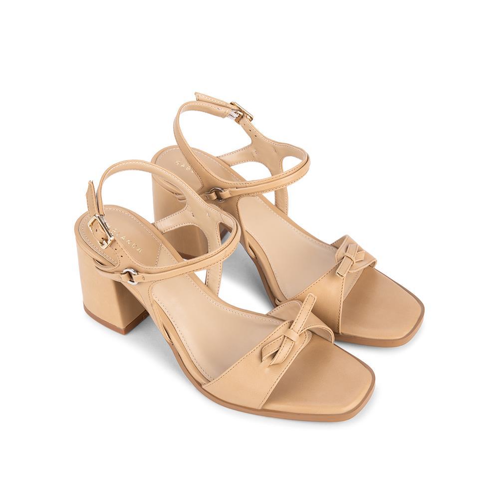 Giày sandal cao gót quai thắt nơ SN0104