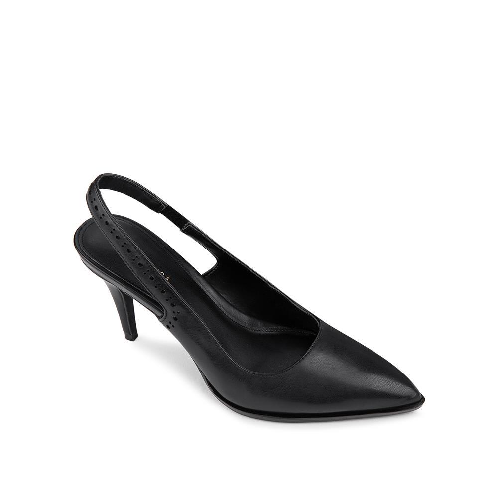 Giày sandal cao gót họa tiết cắt laser SN0111
