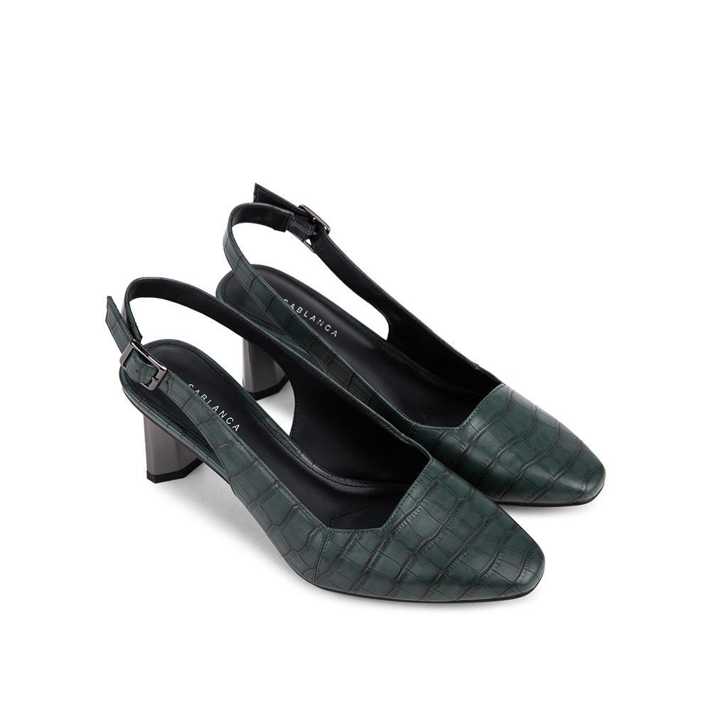 Giày Sandal cao gót mũi vuông SN0112