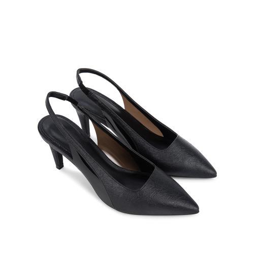 Giày sandal cao gót vân da nổi SN0116