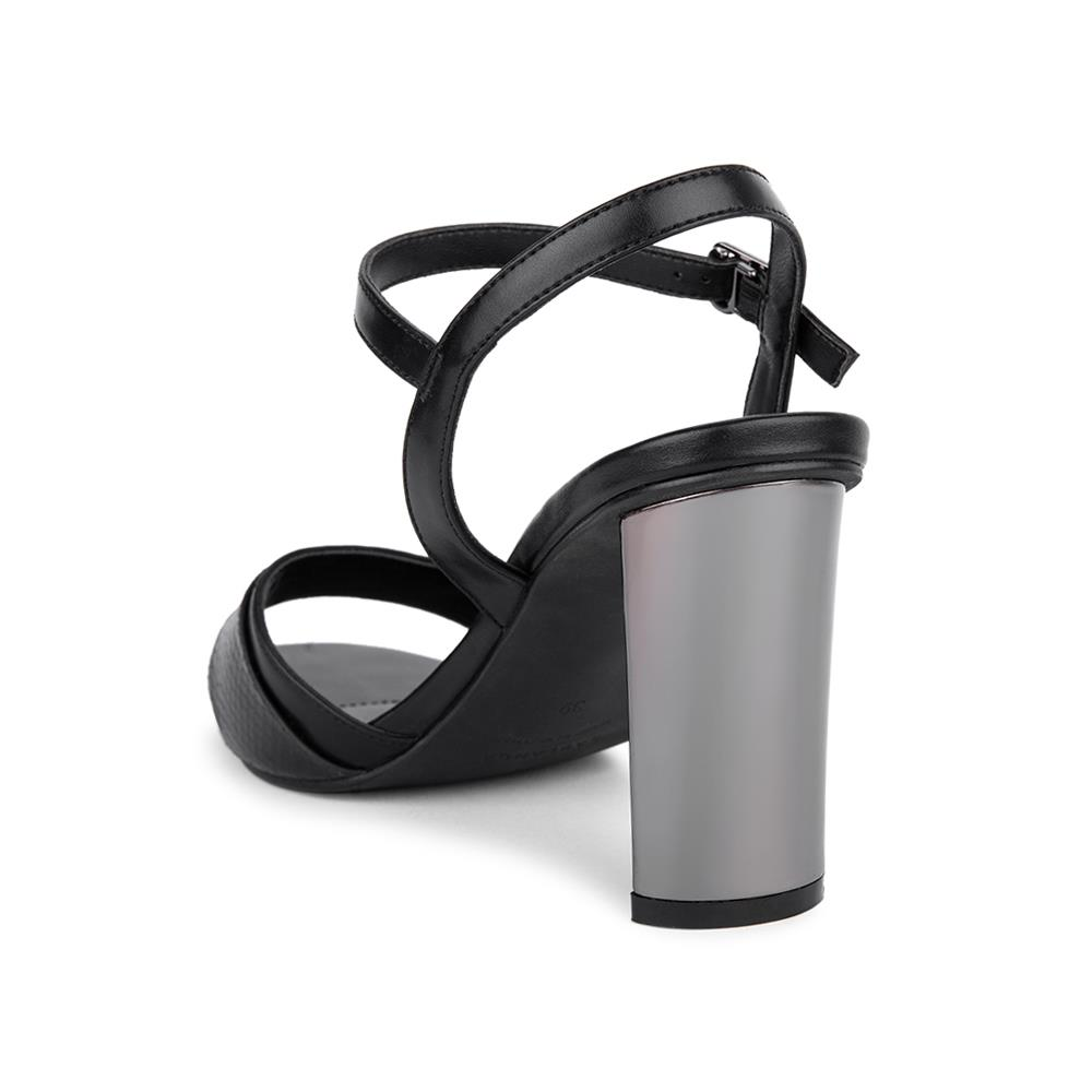 Giày sandal cao gót phối vân da rắn SN0117