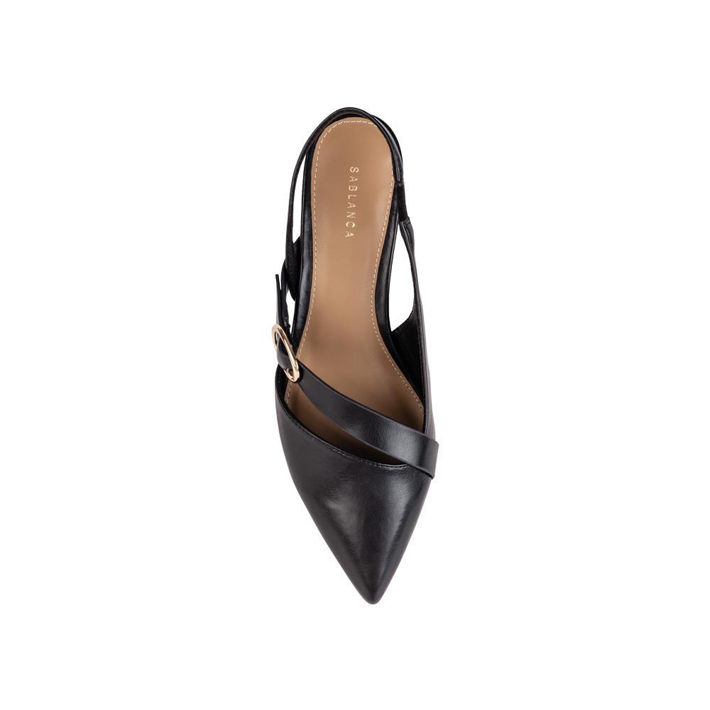 Sandal cao gót mũi nhọn phối belt trang trí SN0128