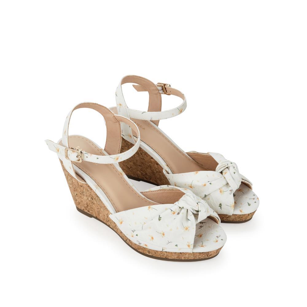 Giày sandal xuồng họa tiết hoa SX0010