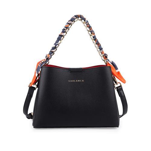 Túi xách tay cỡ nhỏ quai cầm phối vải TO0051