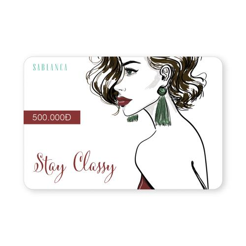 Gift Card Sablanca 500K